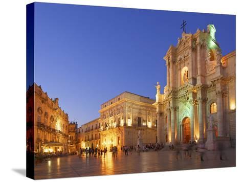 Cathedral Santa Maria Delle Colonne, Syracuse, Sicily, Italy-Katja Kreder-Stretched Canvas Print
