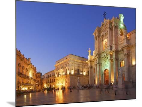 Cathedral Santa Maria Delle Colonne, Syracuse, Sicily, Italy-Katja Kreder-Mounted Photographic Print