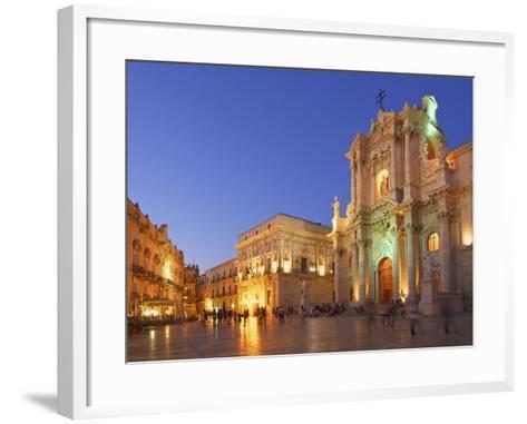 Cathedral Santa Maria Delle Colonne, Syracuse, Sicily, Italy-Katja Kreder-Framed Art Print