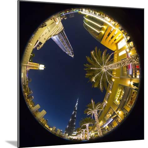 Burj Khalifa (World's Tallest Building) and the Address Downtown Hotel, Dubai, United Arab Emirates-Jon Arnold-Mounted Photographic Print