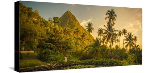 St Lucia, Soufriere, Sugar Beach Resort, Formerly Jalousie Plantation Resort and Gros Piton-Alan Copson-Stretched Canvas Print