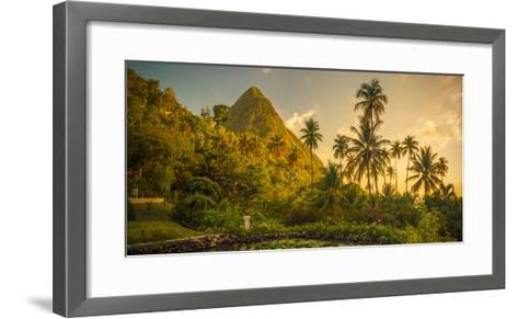 St Lucia, Soufriere, Sugar Beach Resort, Formerly Jalousie Plantation Resort and Gros Piton-Alan Copson-Framed Art Print