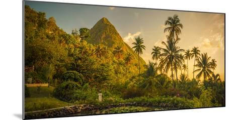 St Lucia, Soufriere, Sugar Beach Resort, Formerly Jalousie Plantation Resort and Gros Piton-Alan Copson-Mounted Photographic Print