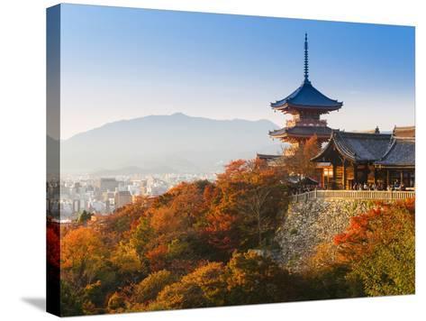 Japan, Honshu, Kansai Region, Kiyomizu-Dera-Gavin Hellier-Stretched Canvas Print