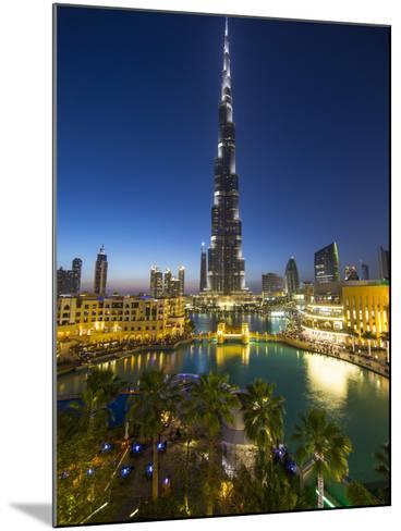 Burj Khalifa (World's Tallest Building), Downtown, Dubai, United Arab Emirates-Jon Arnold-Mounted Photographic Print