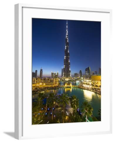 Burj Khalifa (World's Tallest Building), Downtown, Dubai, United Arab Emirates-Jon Arnold-Framed Art Print
