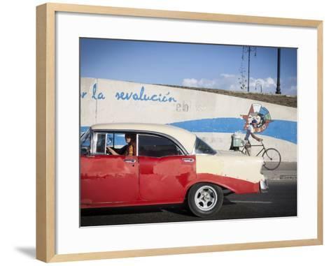 Revolutionary Slogan, Habana Vieja, Havana, Cuba-Jon Arnold-Framed Art Print