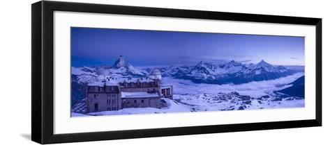 Gornergrat Kulm Hotel and Matterhorn, Zermatt, Valais, Switzerland-Jon Arnold-Framed Art Print