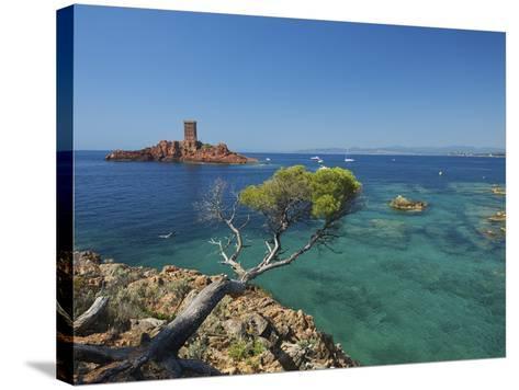 Ile D´Or at Corniche De L´Esterel, Cote D´Azur Provence-Alpes-Cote D'Azur, France-Katja Kreder-Stretched Canvas Print