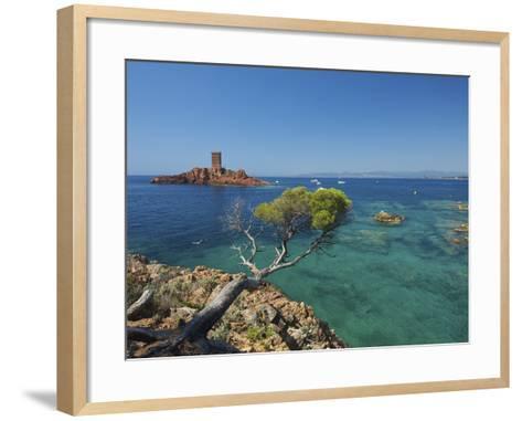 Ile D´Or at Corniche De L´Esterel, Cote D´Azur Provence-Alpes-Cote D'Azur, France-Katja Kreder-Framed Art Print