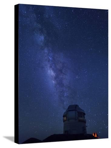 USA, Hawaii, the Big Island, Mauna Kea Observatory (4200m), Gemini Northern Telescope and Milky Way-Michele Falzone-Stretched Canvas Print