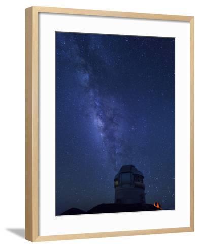 USA, Hawaii, the Big Island, Mauna Kea Observatory (4200m), Gemini Northern Telescope and Milky Way-Michele Falzone-Framed Art Print