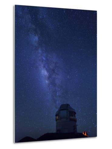 USA, Hawaii, the Big Island, Mauna Kea Observatory (4200m), Gemini Northern Telescope and Milky Way-Michele Falzone-Metal Print