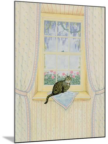 Wisteria Cat-Ditz-Mounted Giclee Print