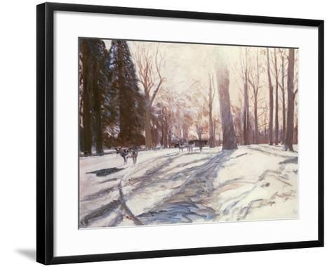 Snow at Broadlands-Paul Stewart-Framed Art Print