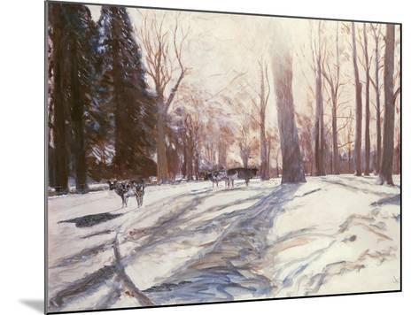 Snow at Broadlands-Paul Stewart-Mounted Giclee Print