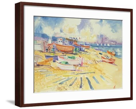 Fishing Boat Beach-Elizabeth Jane Lloyd-Framed Art Print