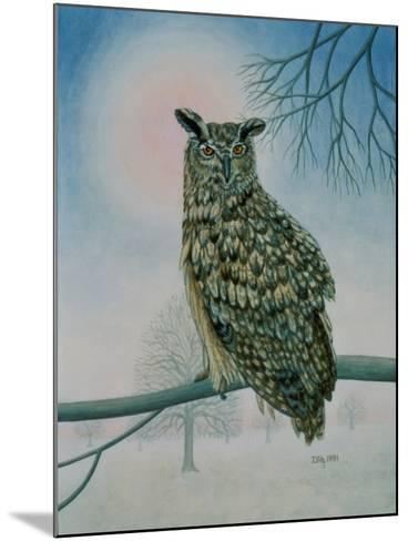 Winter-Owl-Ditz-Mounted Giclee Print
