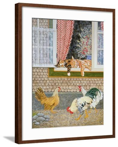 The Fowl and the Pussycats-Ditz-Framed Art Print