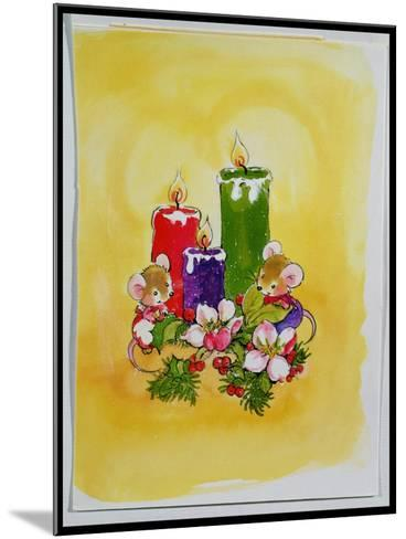 Mice with Candles-Diane Matthes-Mounted Giclee Print