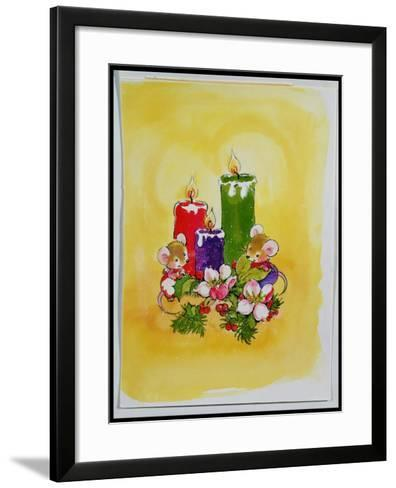 Mice with Candles-Diane Matthes-Framed Art Print