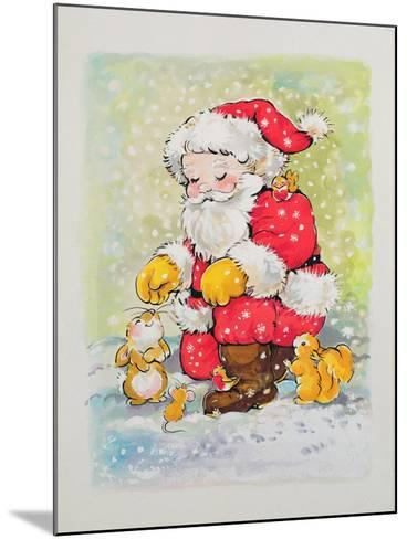 Father Christmas with Animals-Diane Matthes-Mounted Giclee Print