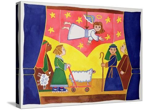 The Nativity Play-Cathy Baxter-Stretched Canvas Print