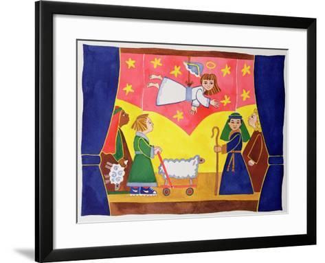 The Nativity Play-Cathy Baxter-Framed Art Print