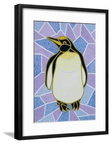 Penguin on Stained Glass-Pat Scott-Framed Art Print