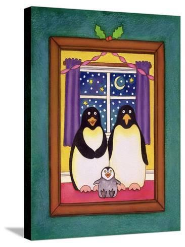 Penguin Family Christmas, 1997-Cathy Baxter-Stretched Canvas Print