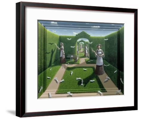 The Bird Garden, 1985-P.J. Crook-Framed Art Print