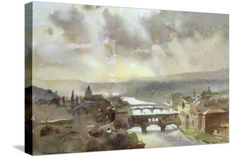 River Arno, Florence-Trevor Chamberlain-Stretched Canvas Print