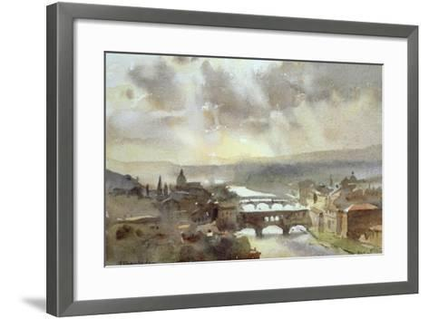 River Arno, Florence-Trevor Chamberlain-Framed Art Print