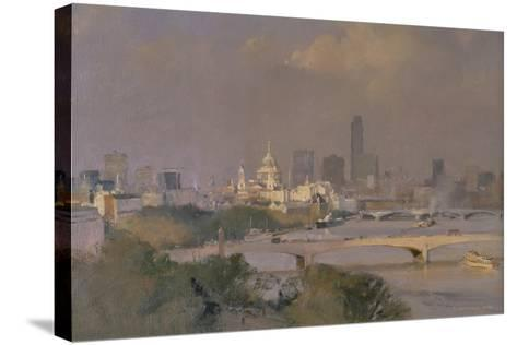 Sultry Afternoon in August, King's Reach, 1988-Trevor Chamberlain-Stretched Canvas Print