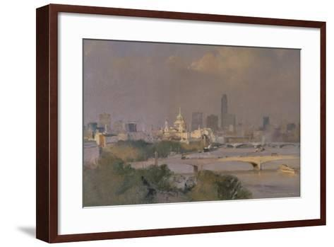 Sultry Afternoon in August, King's Reach, 1988-Trevor Chamberlain-Framed Art Print