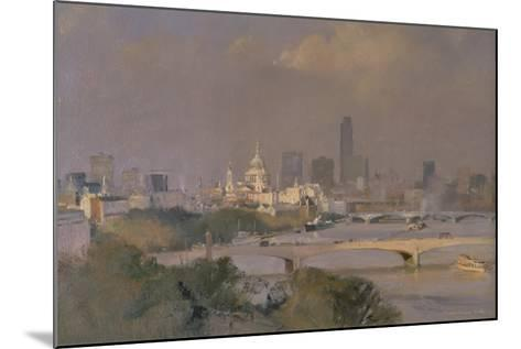 Sultry Afternoon in August, King's Reach, 1988-Trevor Chamberlain-Mounted Giclee Print