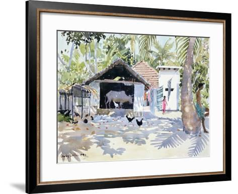 The Backwaters, Kerala, India, 1991-Lucy Willis-Framed Art Print