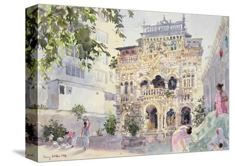 House on the Hill, Bombay, 1991-Lucy Willis-Stretched Canvas Print