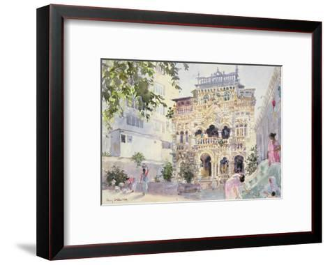 House on the Hill, Bombay, 1991-Lucy Willis-Framed Art Print