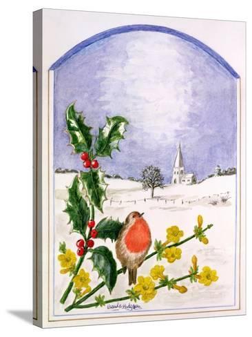 The Robin-Ursula Hodgson-Stretched Canvas Print