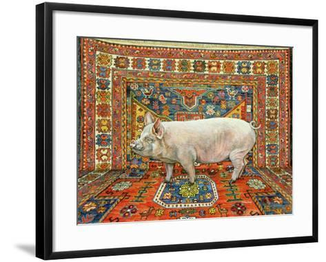 Singleton Carpet Pig-Ditz-Framed Art Print
