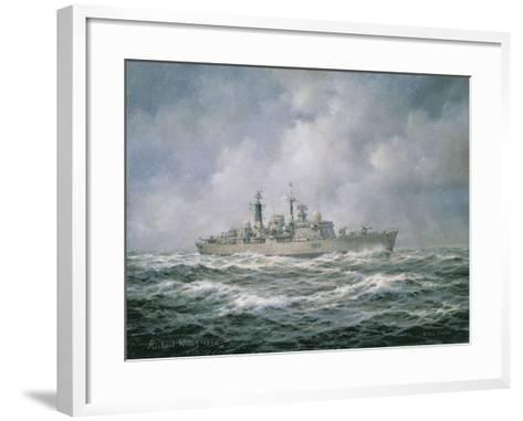 """H.M.S. """"Exeter"""" at Sea, 1990-Richard Willis-Framed Art Print"""