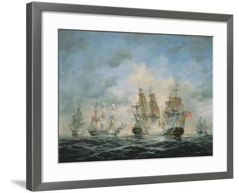 19th Century Naval Engagement in Home Waters-Richard Willis-Framed Art Print