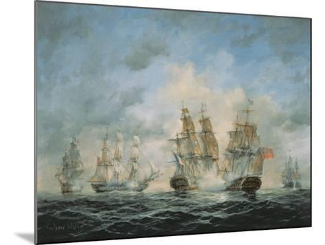 19th Century Naval Engagement in Home Waters-Richard Willis-Mounted Giclee Print
