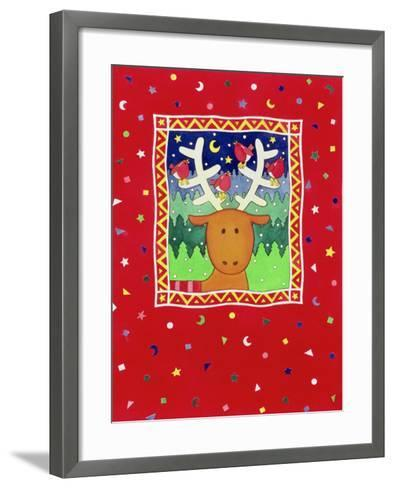 Reindeer and Robins-Cathy Baxter-Framed Art Print