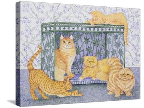 Ginger Gentlemen-Pat Scott-Stretched Canvas Print