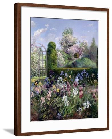 Irises in the Formal Gardens, 1993-Timothy Easton-Framed Art Print