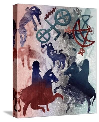 Pictish Riders, 1996-Gloria Wallington-Stretched Canvas Print