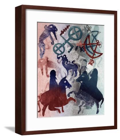 Pictish Riders, 1996-Gloria Wallington-Framed Art Print