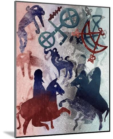 Pictish Riders, 1996-Gloria Wallington-Mounted Giclee Print